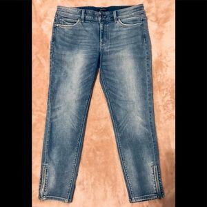 White House Black Market Skinny Cropped Jeans